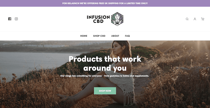infusion cbd store on shopify