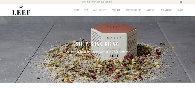 leef organics shopify store
