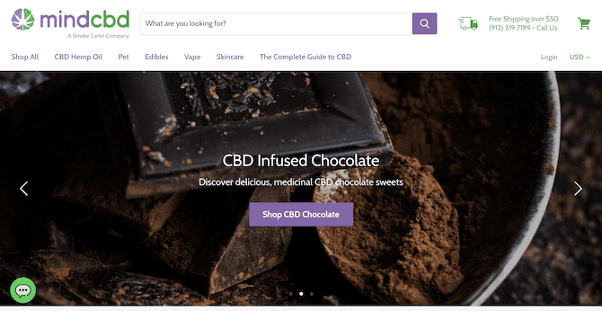 mind cbd shopify store