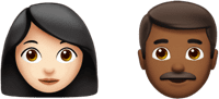 woman and man emojis