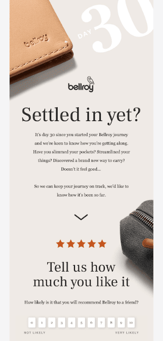 thank you review request email