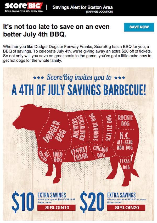 4th of july grocery email