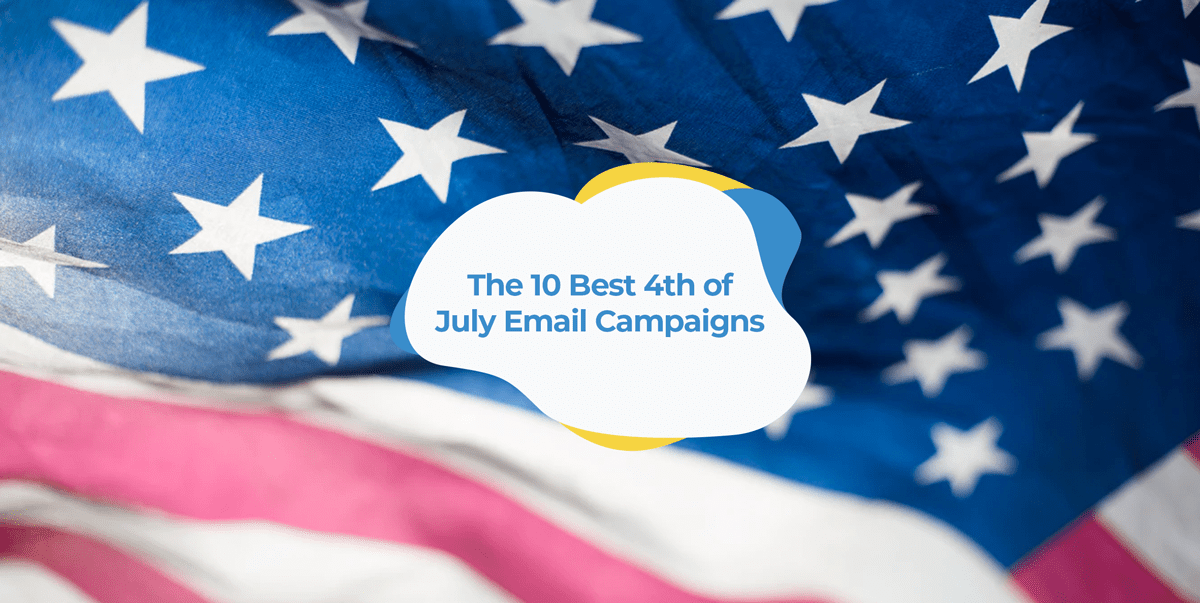4th of july email examples header image