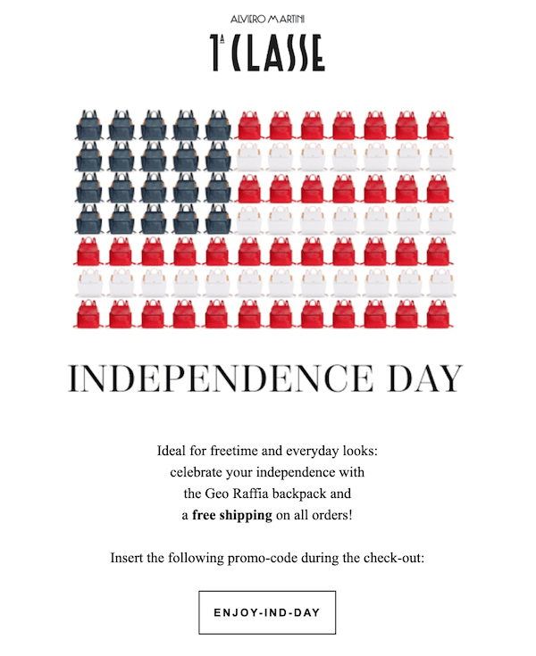 independence day email design