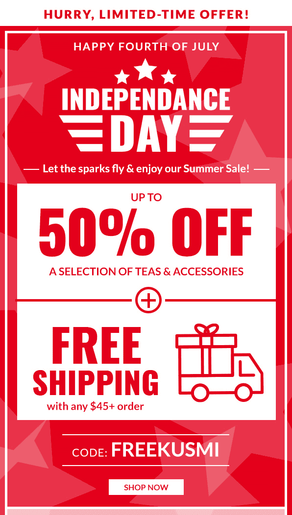 free shipping example email