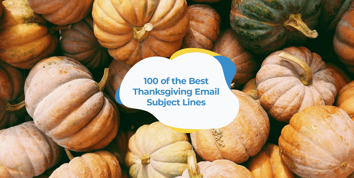 best thanksgiving email subject lines