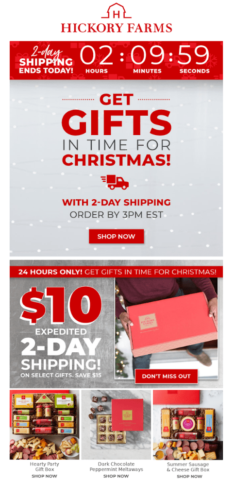 christmas day shipping reminder