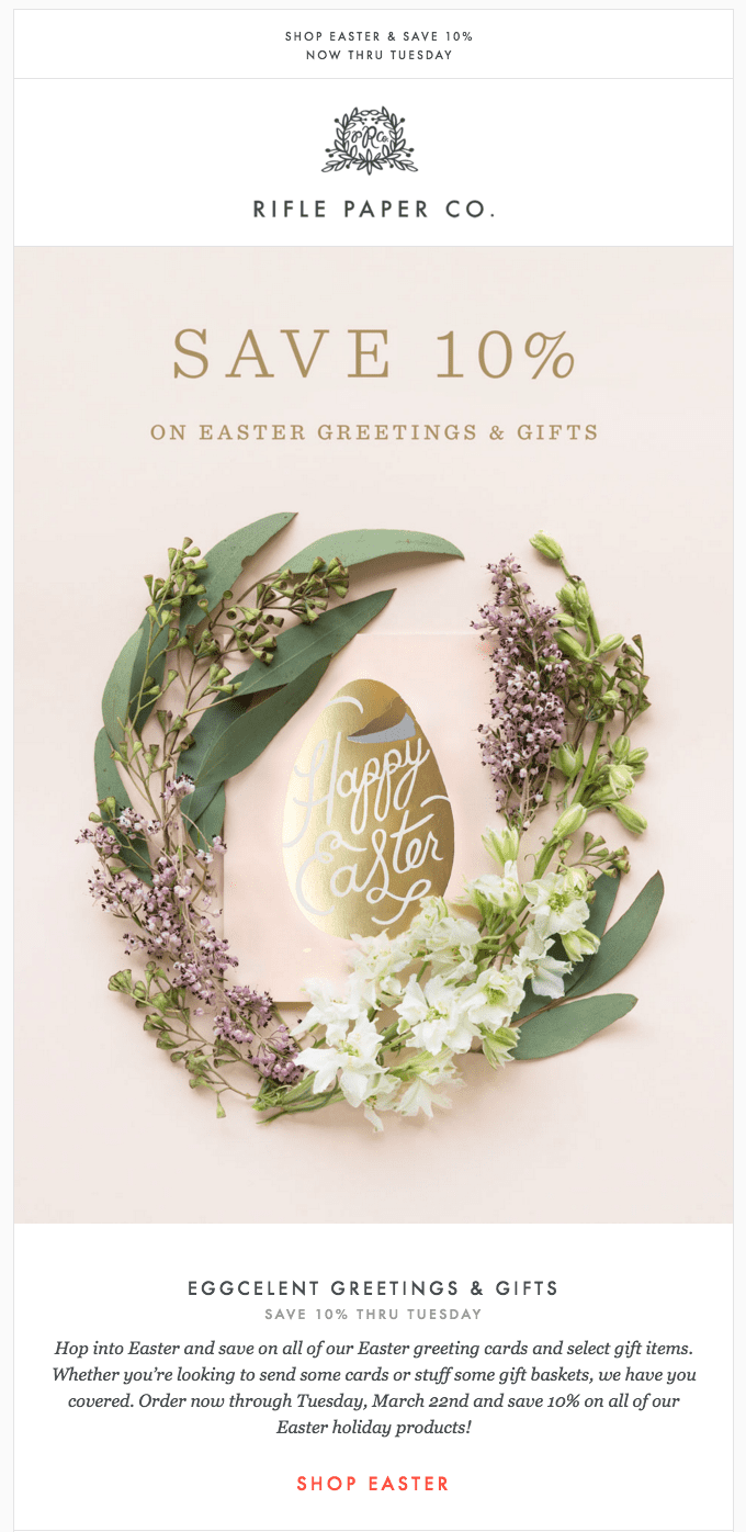 easter email marketing example