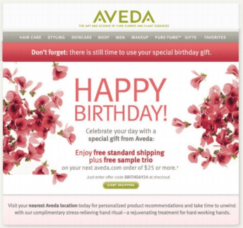 example of a birthday reminder email