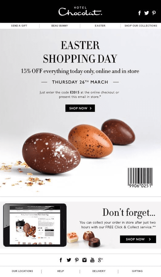 example of great email design
