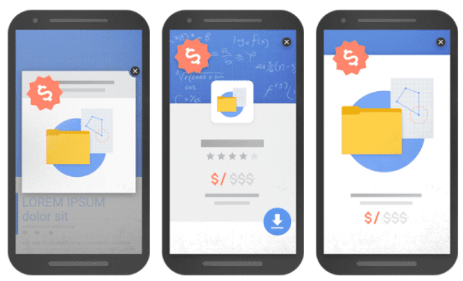 examples of bad mobile popups from google