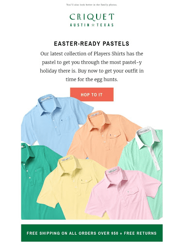 happy easter email