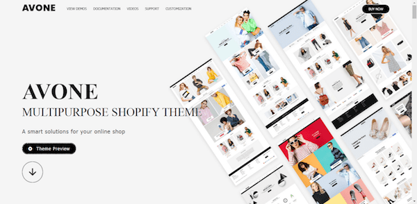avone shopify blog theme