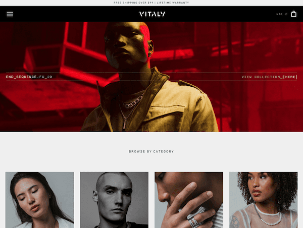 vitaly shopify jewelry store