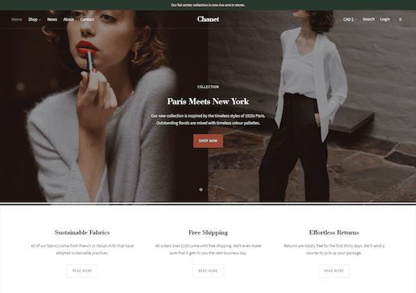 lorenza shopify blog theme