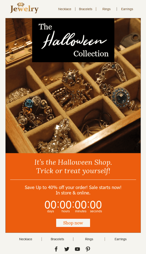 example of an email from a jewelry store
