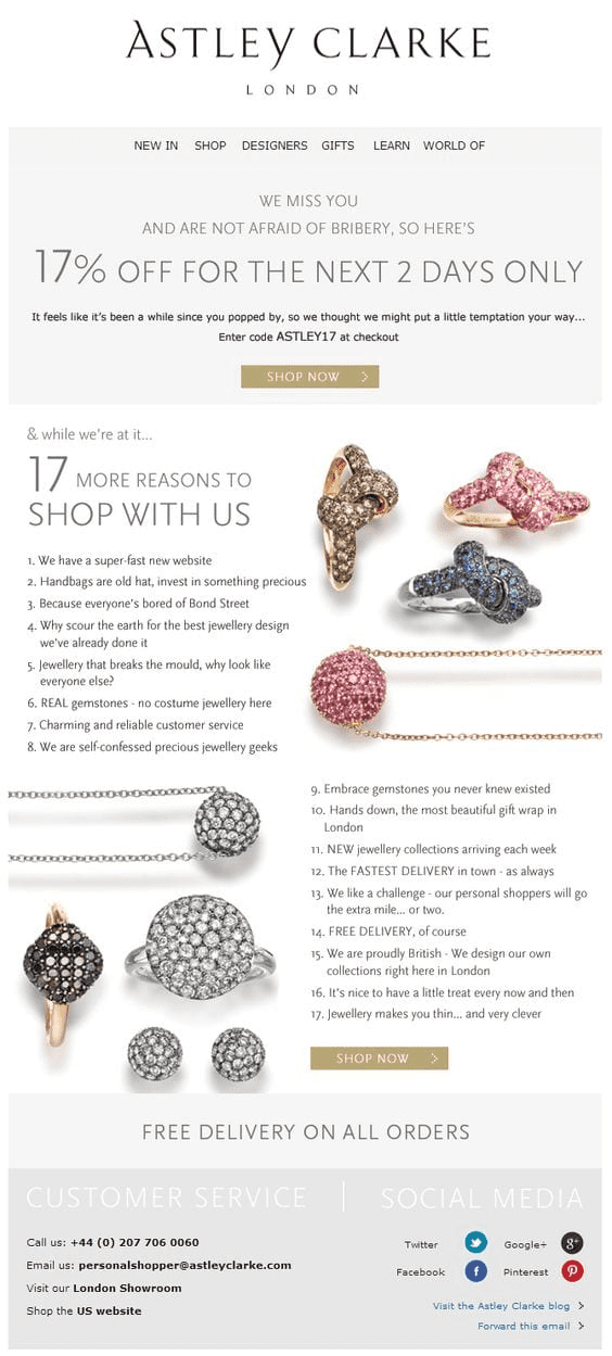 example of jewelry campaign