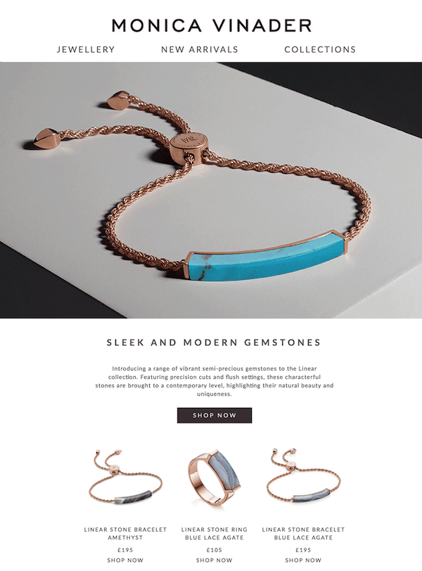 jewelry email design