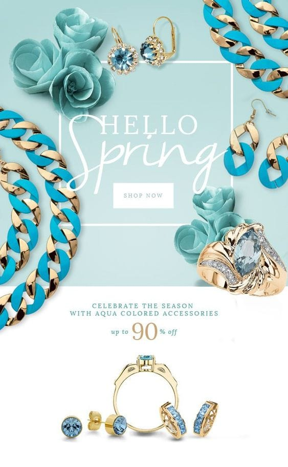 spring jewelry email campaign
