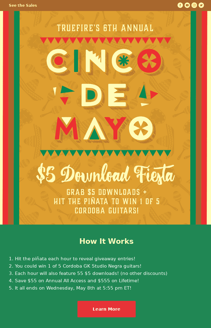 typical cinco de mayo email