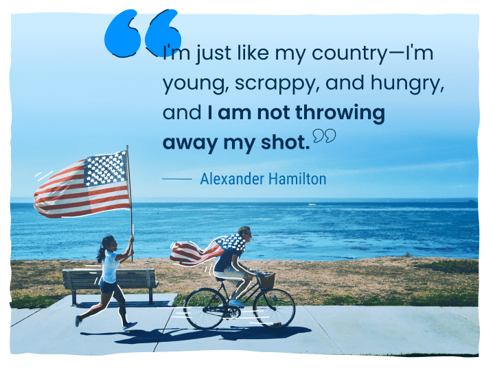 4th of july saying from alexander hamilton