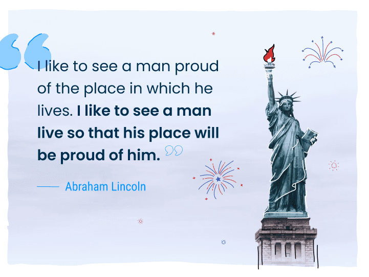 abraham lincoln 4th of july quote
