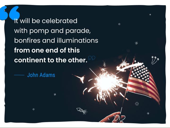 john adams 4th of july quote