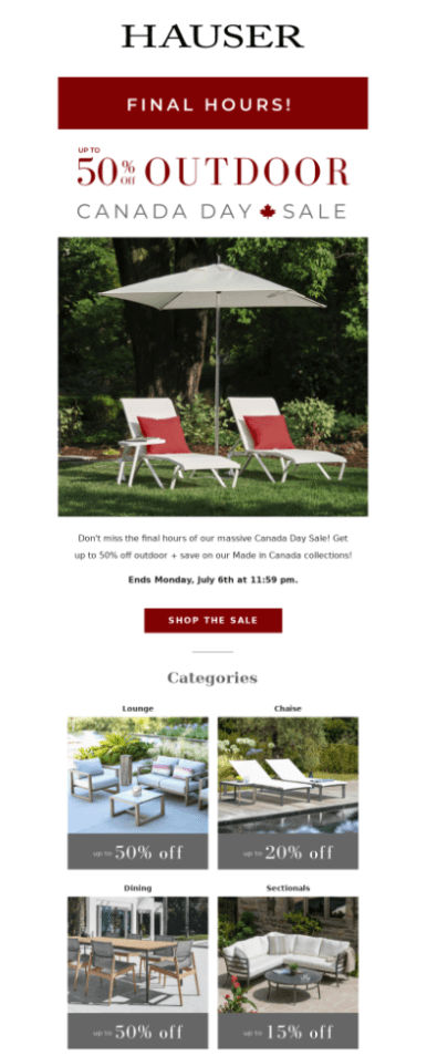 hauser email subject line examples