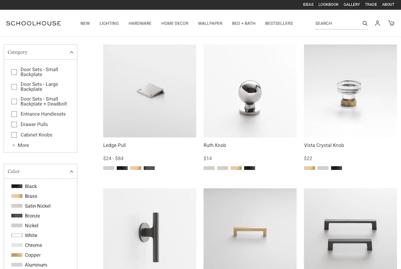 schoolhouse shopify hardware store