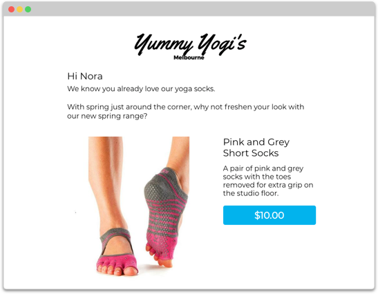 Cross-sell example of a WooCommerce Triggered Email
